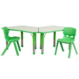 Flash Furniture YUYCY0910032TRAPTBLGREENGG