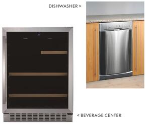 "2 Piece Stainless Steel Kitchen Package with BC-112 24"" Beverage Center and LFA-45X 18"" Fully Integrated Dishwasher"