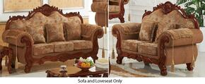 Verona 689-S-L 2 Piece Living Room Set with Sofa and Loveseat in Cherry