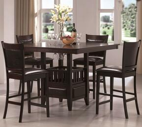 100958SET5 Jaden 5 PC Counter Height Set (Table and 4 Stools) by Coaster Co.