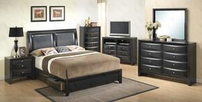 G1500DDFSB2NTV 3 Piece Set icnluding Full Size Bed, Nightstand and Media Chest  in Black