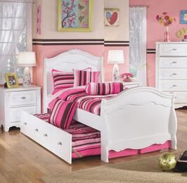 Woodard Collection Full Bedroom Set with Trundle Bed and Single Nightstand in White