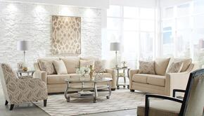 Mauricio 81601-38-35-60-21 4-Piece Living Room Set with Sofa, Loveseat, Accent Chair and Accent Armchair in Linen Color
