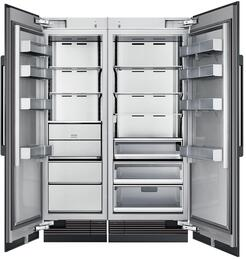 "54"" Panel Ready Side-by-Side Column Refrigerator Set with DRZ24980LAP 24"" Left Hinge Freezer, DRR30980RAP 30"" Right Hinge Refrigerator, and Installation Kit"