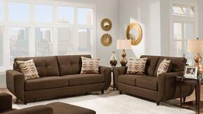 Eusebia 52330SL 2 PC Living Room Set with Sofa + Loveseat in Killington Chocolate Color