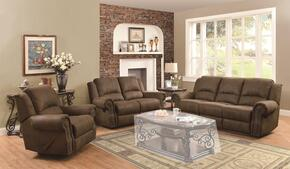 650151 Sir Rawlinson Reclining Sofa + Loveseat + Recliner with Rolled Panel Arm, Pad-Over-Chaise with Topstitch Detailing and Split Bustle Back Cushions in Brown