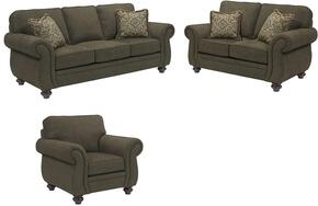 Cassandra 3688SLC/8997-28/4054-27/0204-86 3-Piece Living Room Set with Sofa, Loveseat and Chair in 8997-28 Body, 4054-27 Pillows, 0204-86 Fringes and Affinity Finish