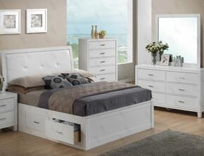 G1275BTSBDM 3 Piece Set including Twin Size Bed, Dresser and Mirror in White