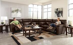 Milan Collection 64341-1283-19/3083-19/1283-29SECP 3 PC Sectional Sofa Set with Power Lay Flat Reclining Sofa + Loveseat + Wedge in Walnut Color