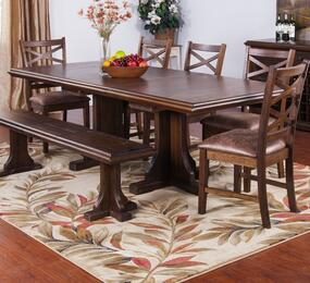 Savannah Collection 1199ACDT6C 7-Piece Dining Room Set with Dining Table and 6 Chairs in Antique Charcoal Finish