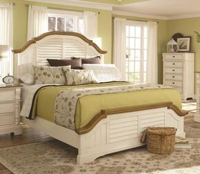 Oleta 202880KE6P 6 PC Bedroom Set with King Size Bed + Chest + Dresser + Mirror + 2 Nightstands in Buttermilk Finish