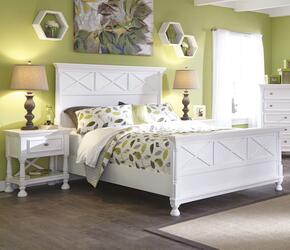 Kaslyn Queen Bedroom Set with Panel Bed and Nightstand in White