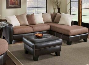 75E3606167SMCO Burke Two Piece Sectional with Sofa + Chaise, Ottoman, Toss Pillows, 1.5 Dacron Wrapped Foam Core, Reversible Cushions, Hardwood/Plywood Frame and Fabric Upholstery in Mocha