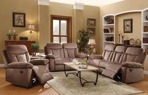 Elisha 51425SLR 3 PC Living Room Set with Sofa + Loveseat + Recliner in Chocolate Color