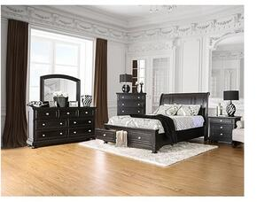 Argusville Collection CM7381KSBDMCN 5-Piece Bedroom Set with King Storage Bed, Dresser, Mirror, Chest and Nightstand in Espresso Finish