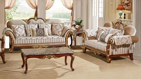 Camelia Collection 6512PCSTLKIT1 2-Piece Living Room Sets with Stationary Sofa, and Loveseat in Beige