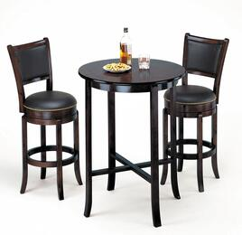 Chelsea Collection 07255BS Bar Table Set with Bar Table + 2 Bar Stools in Espresso Finish