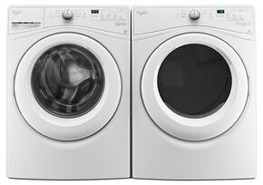 "White Front Load Laundry Pair with WFW75HEFW 27"" Washer and WGD75HEFW 27"" Gas Dryer"