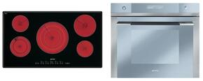 "2-Piece Kitchen Package With S2951TCU 36""  Electric Cooktop and SC712U 27"" Electric Single Wall Oven"