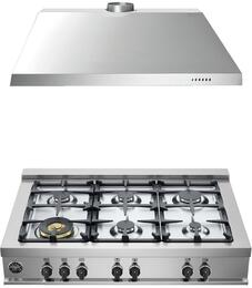 "2-Piece Stainless Steel Kitchen Package with CB36M600X 36"" Natural Gas Rangetop and 36"" Range Hood"