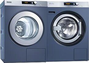 White Front Load Laundry Pair with PW6080DV Washer with Valve Drain and PT7186208V Electric Dryer