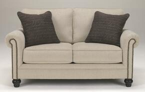 Elisabeth Collection MI-4861LSO-LINE 2-Piece Living Room Set with Loveseat and Ottoman in Linen