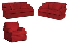 Emily 6262QASLC/4022-65 3-Piece Living Room Set with Queen Air Dream Sleeper, Loveseat and Chair in 4022-65 Red