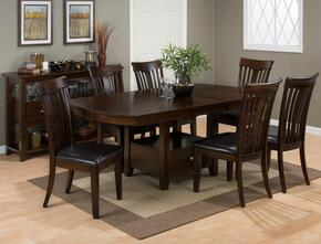 836-78TBKTSET7D Mirandela High/Low Dining Table Withstorage Base with 6 Dining Chairs
