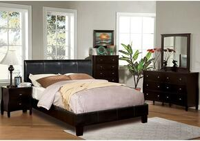 Villa Collection CM7007KBDMCN 5-Piece Bedroom Set with King Bed, Dresser, Mirror, Chest, and Nightstand in Espresso Color