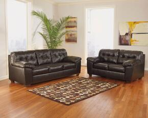 Alliston Collection 20101SL 2-Piece Living Room Set with Sofa and Loveseat in Chocolate