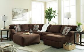 Jayceon 64904-66-34-17-08 2-Piece Living Room Set with Right Arm Facing Chaise Sectional and Ottoman in Java Brown