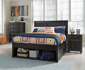 Jaysom Full Bedroom Set with Storage Bed, and Nightstand in Black