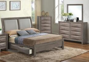 G1505DDTSB2DM 3 Piece Set including  Twin Size Bed, Dresser and Mirror  in Gray