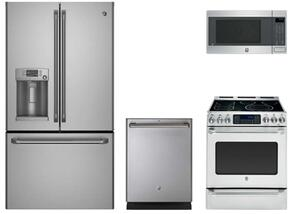"4 Piece Stainless Steel Kitchen Package With CYE22TSHSS 36"" French Door Refrigerator, CS980STSS 30"" Electric Range, CEB1599SJSS Countertop Microwave Oven and CDT835SSJSS 24"" Dishwasher For Free"