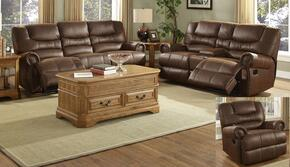 2039530MOCMSLG Laredo 3 Piece Match Stich Living Room Set with Sofa, Loveseat and Glider, in Mocha