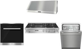 4-Piece Stainless Steel Kitchen Package with KMR1355G 48