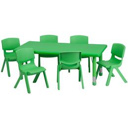 Flash Furniture YUYCX00132RECTTBLGREENEGG