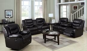 Torrance 50575SLR 3 PC Living Room Set with Sofa + Loveseat + Recliner in Espresso Color