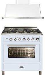 2-Piece True White Kitchen Package with UMT76DMPB 30