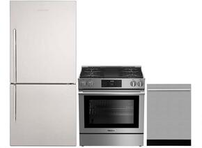 "3-Piece Kitchen Package with BRFB1812SSN 30"" Bottom Freezer Refrigerator, BGR30420SS 30"" Slide-in Gas Range, and a free DWT55300SS 24"" Built In Fully Integrated Dishwasher in Stainless Steel"