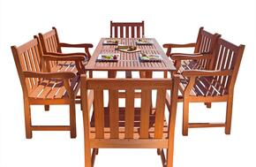 V187SET24 Outdoor Rectangular Curvy Dining Set 24
