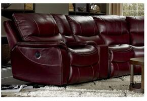 SS624 2-Piece Living Room Set with Power Motion Sofa and Loveseat in Red Wine with Black Trim