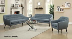 Dawson Collection 505347SET 3 PC Living Room Set with Sofa + Loveseat + Armchair in Turquoise Color