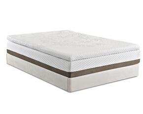 "PINNACLEQDQMATSET2 Pinnacle 13"" Queen Size 2"" PureGel Plus APR Memory Foam Mattress + White Split Foundation with 1"" HR Support Foam, 1"" HD Polyurethane Base Foam and Foam Encased Border Edge"