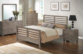 G1205CTB2DMN 4 Piece Set including Twin Bed, Dresser, Mirror and Nightstand  in Gray