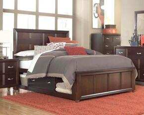 Eastlake 2 Collection 5 Piece Bedroom Set With King Size Storage Panel Bed + 2 Nightstands + Dresser + Mirror: Cherry