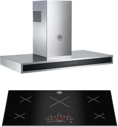 "2-Piece Stainless Steel Kitchen Package with P365IME 36"" Induction Cooktop and KG36CONX 36"" Wall Mount Hood"