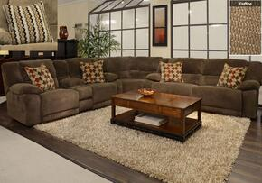 Hammond Collection 1441-8-9-2776-29/2778-29 3-Piece Sectional with Reclining Sofa, Corner Wedge and Reclining Loveseat in Coffee and Pillows in Taupe