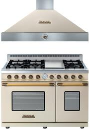 Deco 2-Piece Cream with Bronze Accent Kitchen Package with RD482GCCB 48