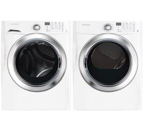 "White Front Load Laundry Pair with FFFS5115PW 27"" Washer and FFSE5115PW 27"" Electric Dryer"
